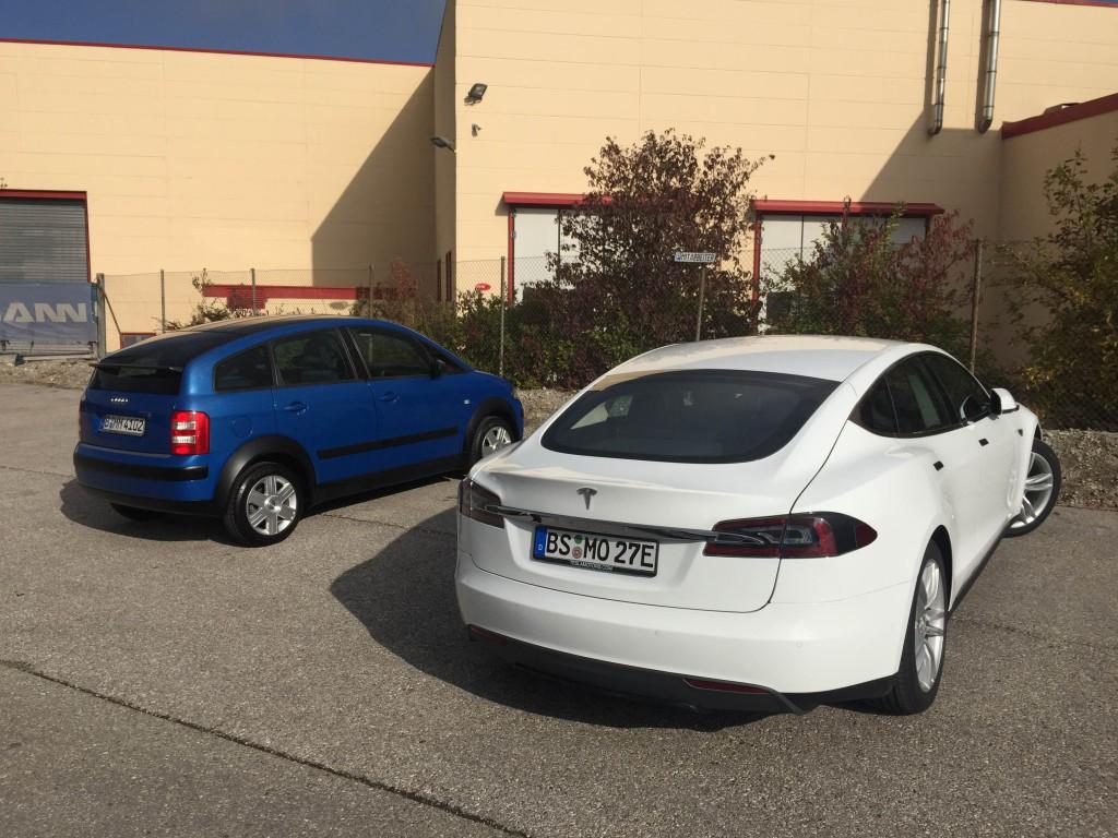 Audi A2 vs. Tesla Model S